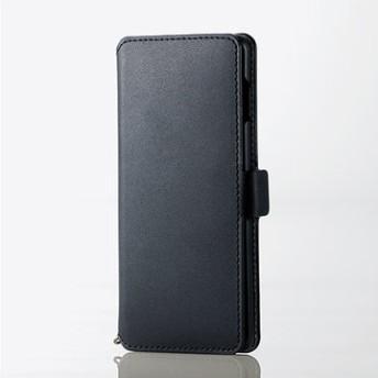 Galaxy S10/ソフトレザーケース/磁石付/ブラック PM-GS10PLFY2BK