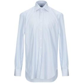 《期間限定セール開催中!》BARBA Napoli メンズ シャツ スカイブルー 40 コットン 100%
