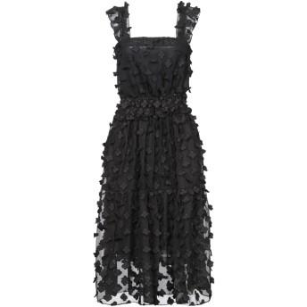 《セール開催中》BRIGITTE BARDOT レディース 7分丈ワンピース・ドレス ブラック S/M ポリエステル 100%