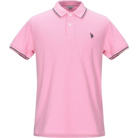《期間限定セール開催中!》U.S.POLO ASSN. メンズ ポロシャツ ピンク L コットン 100%