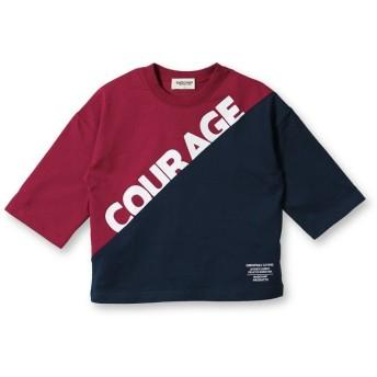 【30%OFF】 ブランシェス カラーブロック8分袖Tシャツ(90~140cm) レディース レッド 90cm 【branshes】 【セール開催中】