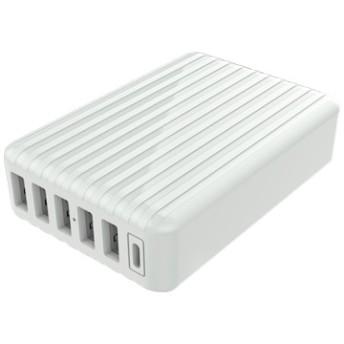 USB充電器 急速充電対応×6ポート TypeC搭載 ML-ACUS6PC60W