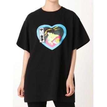 ジュエティ ジャパニーズポップTシャツ レディース ブラック M 【jouetie】