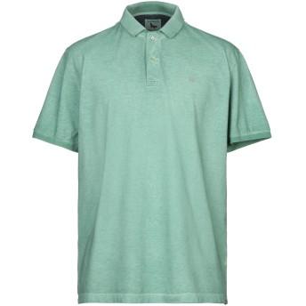 《9/20まで! 限定セール開催中》GRAN SASSO メンズ ポロシャツ グリーン 58 コットン 100%