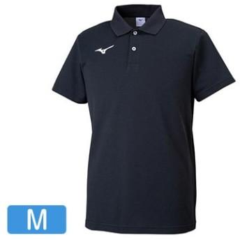 ポロシャツ ブラック×ホワイト【ユニセックス】 サイズ:M 32MA919509M