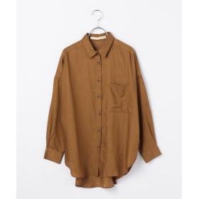 シップス Khaju:オーバーサイズシャツ レディース キャメル ONESIZE 【SHIPS】