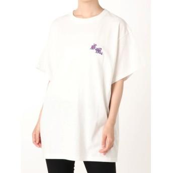 ジュエティ ストリートアートカラーTシャツ レディース オフホワイト M 【jouetie】