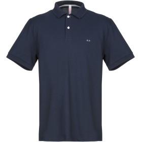 《期間限定セール開催中!》SUN 68 メンズ ポロシャツ ダークブルー S コットン 95% / ポリウレタン 5%