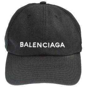 BALENCIAGA(バレンシアガ)17AW フロントロゴ刺繍 6パネルキャップ ベースボールキャップ ブラック 帽子 452245 452B4