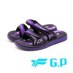 G.P高彈性厚底舒適雙帶止滑拖鞋 女鞋-紫(另有桃)