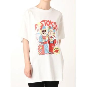 ジュエティ TMpaint Tシャツ レディース オフホワイト M 【jouetie】