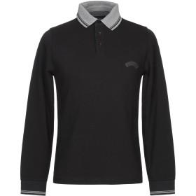 《期間限定セール開催中!》LES COPAINS メンズ ポロシャツ ブラック 48 コットン 100%