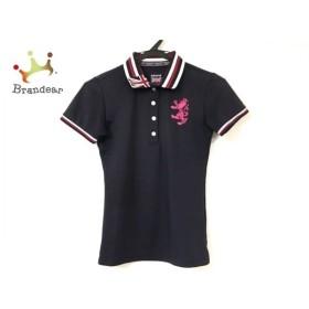 アドミラル Admiral 半袖ポロシャツ サイズS レディース 新品同様 ダークネイビー×マルチ 新着 20190811