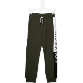 Givenchy Kids ロゴ トラックパンツ - グリーン