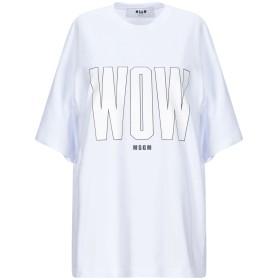 《期間限定 セール開催中》MSGM レディース T シャツ ホワイト XS コットン 100%