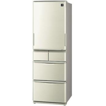 どっちもドア 5ドア冷蔵庫(412L) ゴールド系【大型商品(設置工事可)】 SJ-W411E-N