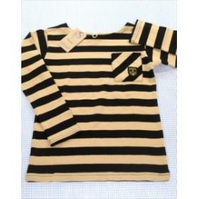 エフオーセラフ Seraph 長袖Tシャツ ロンt 120cm 新品 茶/黒系 トップス ボーダー 男の子 女の子 キッズ 子供服 通販 買い取り