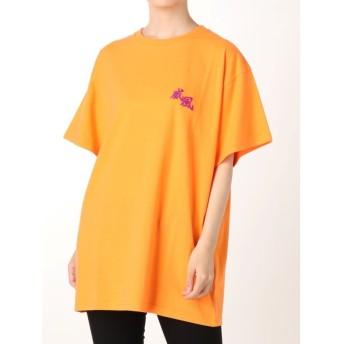 ジュエティ ストリートアートカラーTシャツ レディース オレンジ M 【jouetie】