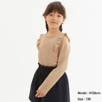 (GU)GIRLSフリルT(長袖) PINK 140