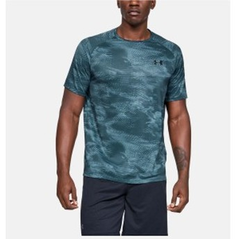 アンダーアーマー メンズスポーツウェア 半袖ベーシックTシャツ 19F UA TECH 2.0 SS PRINTED 1328189 073 メンズ 73