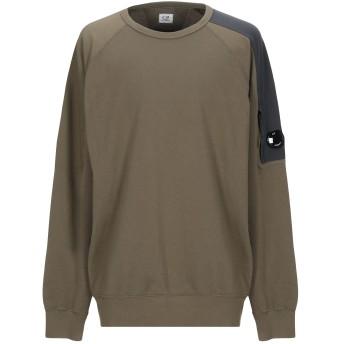 《期間限定セール開催中!》C.P. COMPANY メンズ スウェットシャツ ミリタリーグリーン XL コットン 100%