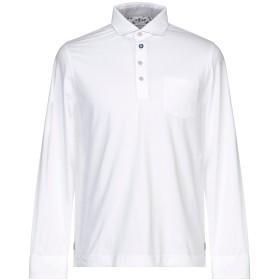 《期間限定セール開催中!》HERITAGE メンズ ポロシャツ ホワイト 50 コットン 95% / ポリウレタン 5%
