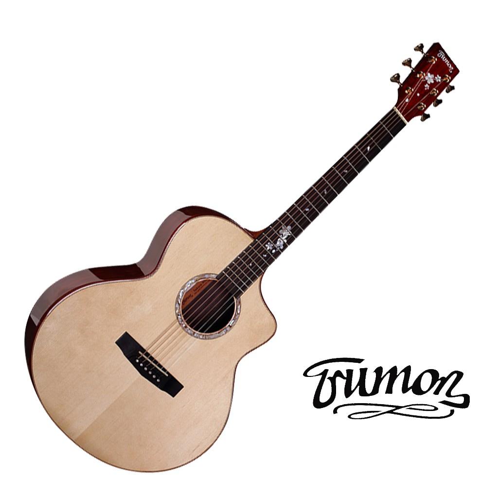 Trumon楚門吉他41吋 900JF J-900F 雲杉面單 可可菠蘿背側 民謠吉他 木吉他【黃石樂器】