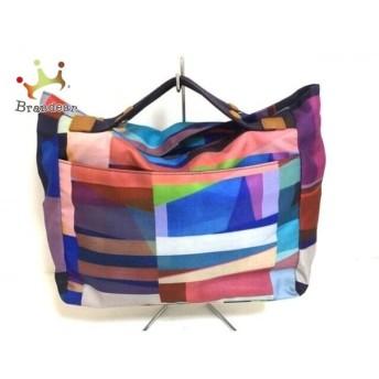 ポールスミス ハンドバッグ 美品 ライトブルー×ピンク×マルチ ナイロン×コットン×レザー 新着 20190811