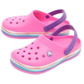 クロックス(crocs) ジュニア CROCBAND WAVY BAND CLOG #205697-6L0 (Jr)
