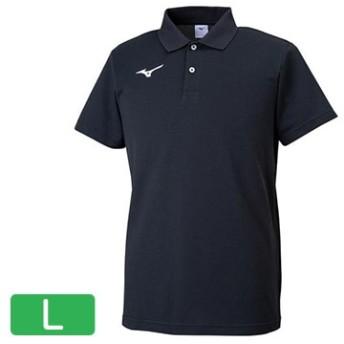 ポロシャツ ブラック×ホワイト【ユニセックス】 サイズ:L 32MA919509L