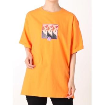 ジュエティ クチビルフォトTシャツ レディース オレンジ M 【jouetie】