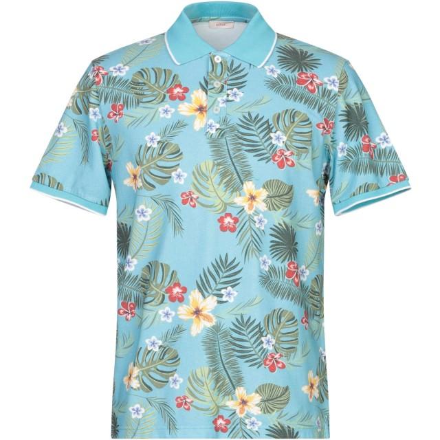 《セール開催中》ALTEA メンズ ポロシャツ アジュールブルー M コットン 100%
