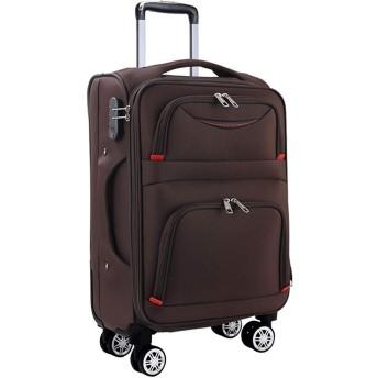 Osonm ビジネスバッグスーツケースソフトキャリーバッグ機内持込 大型預け入れスーツケース キャスター613SD (S, コーヒー)