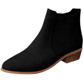 [シャオメイスター] 令和新品 ブーツ ブーティー レディース ラウンドトゥ フェイクスタックド ローヒール サイドジッパー 冬 ブーティ