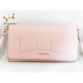 トッカ TOCCA 財布 ピンク ショルダーウォレット レザー 新着 20190812