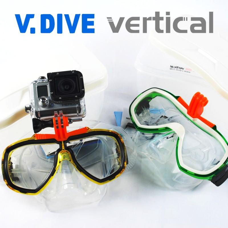 【V.DIVE威帶夫】101 & 201 可安裝GoPro攝影機 專業潛水面鏡MASK