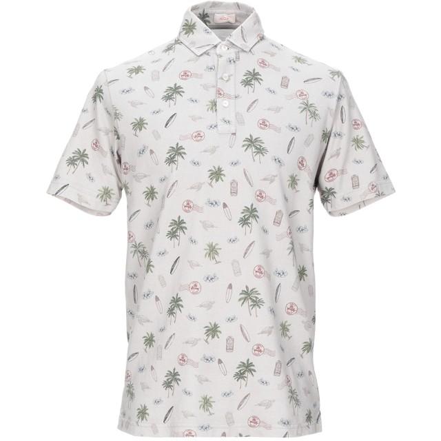 《期間限定セール開催中!》ALTEA メンズ ポロシャツ ライトグレー M コットン 100%