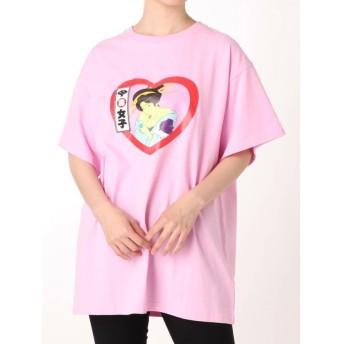 ジュエティ ジャパニーズポップTシャツ レディース ピンク M 【jouetie】