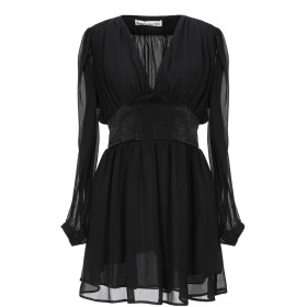《セール開催中》NINEMINUTES レディース ミニワンピース&ドレス ブラック 40 ポリエステル 100%