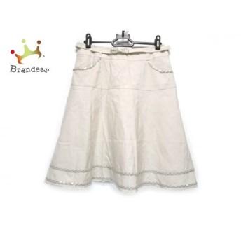 トゥービーシック スカート サイズ42 L レディース ベージュ リボン/スパンコール/ビーズ 新着 20190811