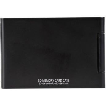 SDメモリーカードケースAS 16枚収納 ブラック ASSD16BK