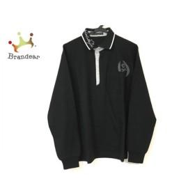 カステルバジャック Castelbajac 長袖ポロシャツ メンズ 新品同様 黒×グレー×白 新着 20190811