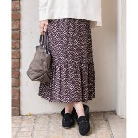【エニィスィス/any SiS】 【L'aube】アンティークフラワーロング スカート