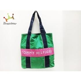 トミーヒルフィガー TOMMY HILFIGER トートバッグ グリーン×ピンク×マルチ キャンバス 新着 20190811