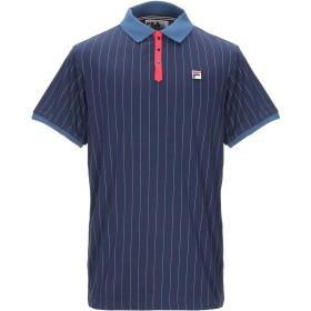 《期間限定 セール開催中》FILA メンズ ポロシャツ ダークブルー M コットン 100%