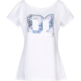《セール開催中》LIU JO レディース T シャツ ホワイト 40 コットン 94% / ポリウレタン 6%