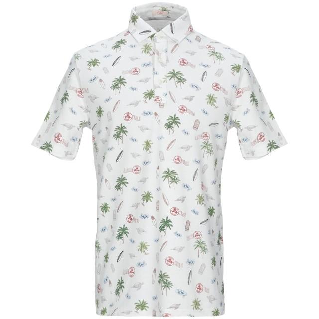 《セール開催中》ALTEA メンズ ポロシャツ ホワイト M コットン 100%
