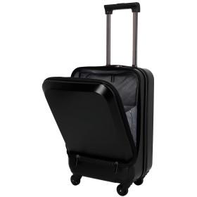 ラッキーパンダ luckypanda TY5801 スーツケース フロントオープン 機内持ち込み ファスナータイプ TSAロック 小型 sサイズ ブラック