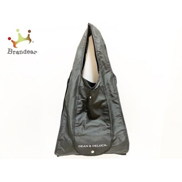 ディーンアンドデルーカ DEAN&DELUCA トートバッグ 美品 黒×白 エコバッグ ナイロン 新着 20190811