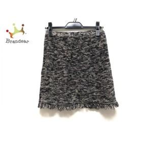 ドゥーズィエム DEUXIEME CLASSE スカート サイズF F レディース 美品 白×黒×ダークブラウン 新着 20190812
